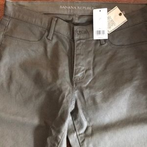 Banana Republic Skinny Coated Jeans Gray